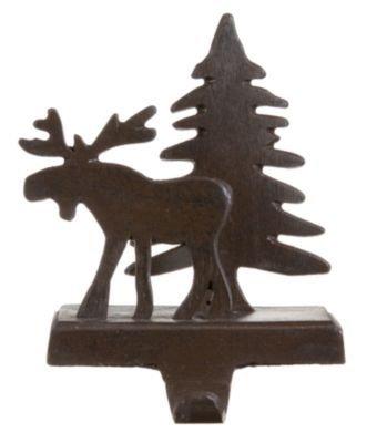 Park Designs Moose and Tree Stocking Holder - Iron Finish