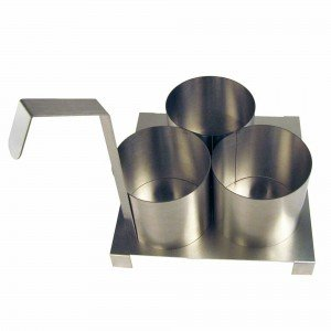 Paragon International 4025 Funnel Cake Mold Ring with Base Plate44; 4.5 in.