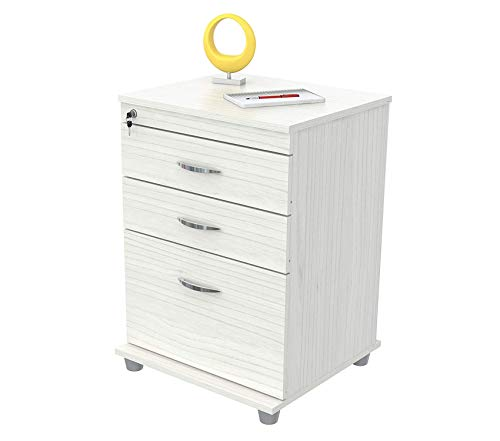 Wood & Style Office Home Furniture Premium Cabinets Mobile Files Laricina (Inval L Shaped Desk)