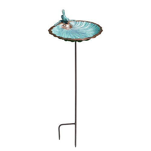 Achla Designs Scallop Shell Birdbath and Feeder with - Scallop Color Shell