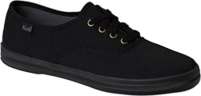 Keds Women's Champion Black/Black Canvas Shoes Medium Width