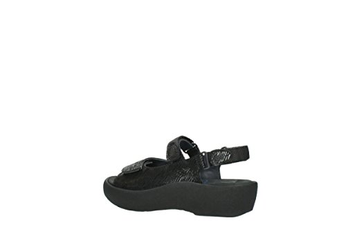Wolky Womens 3204 Leather 70000 Jewel Black Canals Sandals UPUOfxr