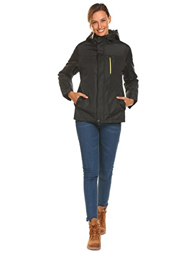 COORUN Women's Winter Waterproof Cotton-padded Outwear Coat Jackets Outdoor Windbreaker Raincoat by COORUN