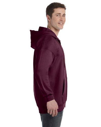 Hanes Adult Ultimate Cotton Full Zip Hood, Maroon, XX-Large