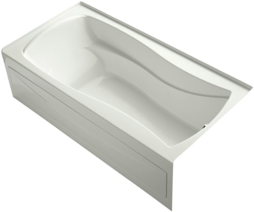 Kohler K-1259-RA-NY Mariposa 6Ft Bath with Integral Apron, Tile Flange and Right-Hand Drain, Dune
