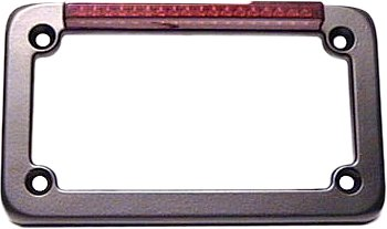 Signal Dynamics LED License Plate Frame with Turn Signals - Black with Red Lens 02003