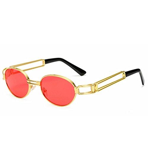 Mujer Sol De para Gafas De Mujer Gafas Color Gafas Red Marco LBY Sol Clásico de Punk Sol Retro Purple qxCEp4XIw