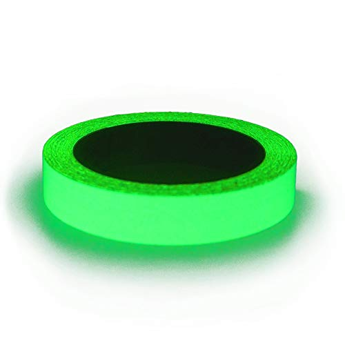 Glow in The Dark Fluorescent Tape - 33 ft x 1 inch - Removable Waterproof Outdoor Luminous Tape]()