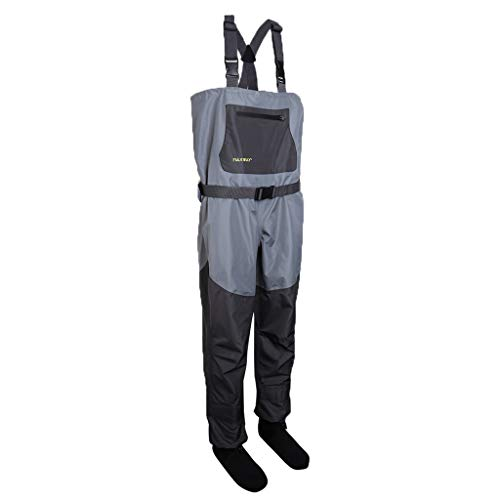 SM SunniMix Waterproof Lightweight Fishing Waders with Boots Bootfoot Hunting Chest Waders with Y-Straps