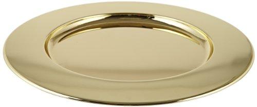 Carlisle 608925 Celebration Brass Plated Iron Charger Plate, 12.19
