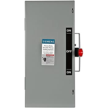 siemens dtnf322 60 amp 3 pole 240 volt 3 wire non fused double throw
