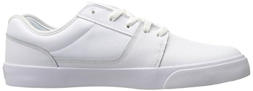 DC Men's Tonik Skateboarding Shoe, White/White/White, 9.5 D US