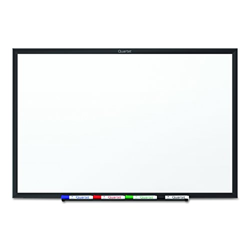 (Quartet Whiteboard, Standard, 6 x 4 Feet, Aluminum Frame, Black)