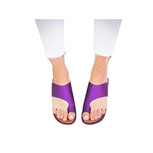 (Dressin Women's Sandals 2019 New Women Comfy Platform Sandal Shoes Summer Beach Travel Shoes Fashion Sandal Ladies Shoes Purple)