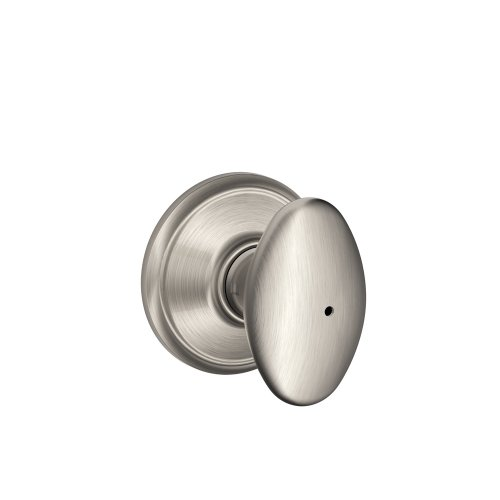 (Schlage F40VSIE619 Siena Privacy Knob, Satin Nickel)