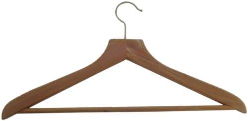 Russel H & L Percha de Madera de Cedro con Barra para Pantalones ...