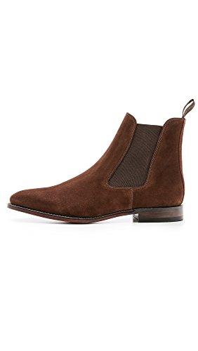 Loake - Botas de cuero para hombre marrón