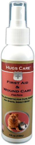 Hugs Care Antibacterial First Aid and Wound Care Spray for Pets, 4-Ounce