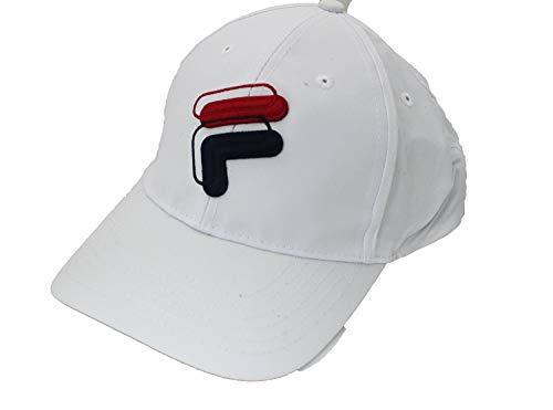 Fila Heritage F Logo Unisex Matte Nylon Adjustable Snapback Hat (White)