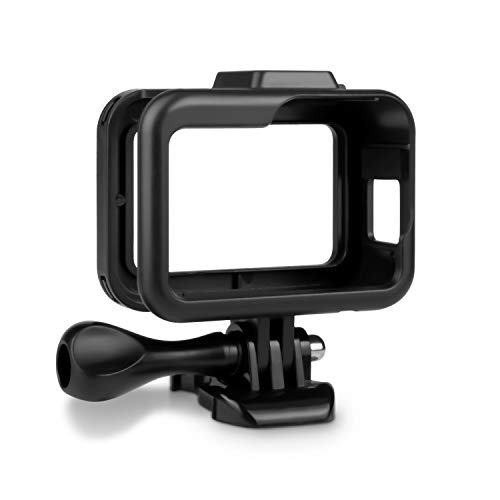 Kupton Housing Frame for GoPro Hero 8 Black Protective Shell Cage Mount Accessories for GoPro Hero 8 with Quick Pull Movable Socket and Screw (Black)