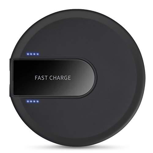XLTOK Cargador Inalámbrico Rápido 10W, Fast Wireless Charger para iPhone XS/XS MAX/X / 8/8 Plus,Samsung Galaxy S9 Plus…