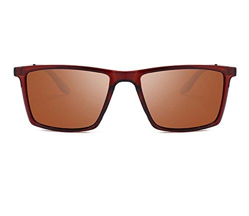 Glasses hommes Hellomiko polarisées Brun Brun Lunettes Glare Driving soleil pour carrée classique monture de SP4S8q