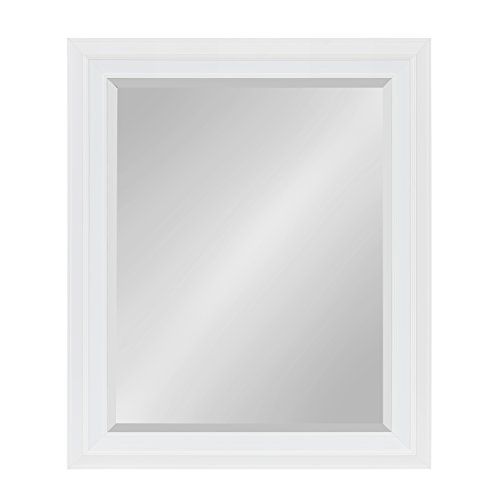 Kate and Laurel Whitley Framed Wall Mirror 27.5x33.5 White