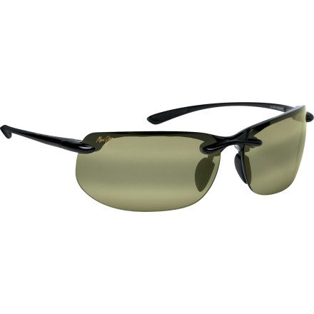 Maui Jim Banyans Polarized Gloss Black/Hi Transmission Sunglasses - Sunglasses Banyans Jim Maui