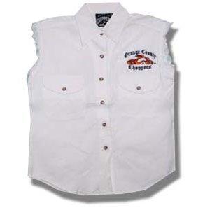 - Orange County Choppers Men's Logo Vest Large White