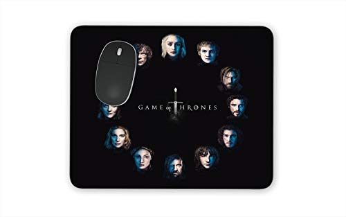Game of Thrones Custom Mouse Pads - Special Series Finale Set of Personalized Mousepads for Games of Throne Fans HBO GOT (Circle of Faces)