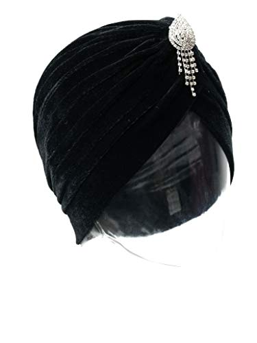 Vintage 20s 30s 50s Twist Pleated Stretch Turban Hat Chemo Beanie Cap Hat for Cancer Patient -