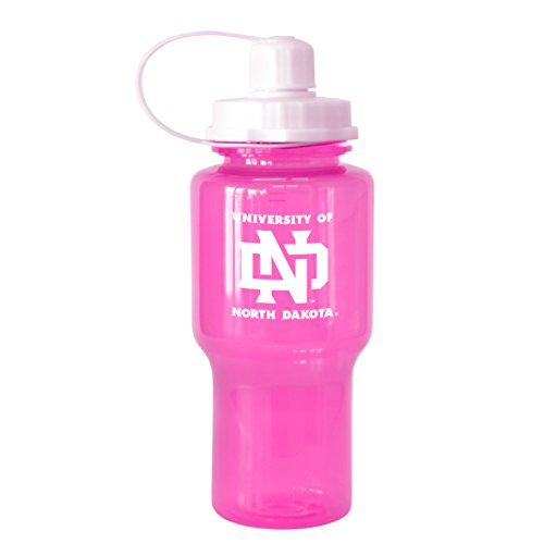 NCAA North Dakota Fighting Sioux Tritan Travel Mate Pink Water Bottle, 24-Ounce