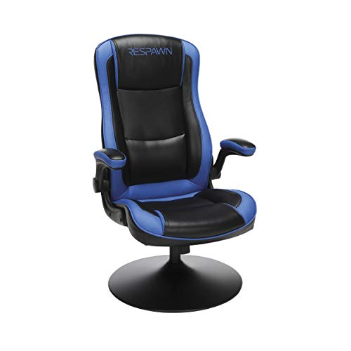 "RESPAWN RSP-800 OFM Rocking Gaming Chair, 29.13"" D x 25.98"" W x 41.73"" H, Blue"