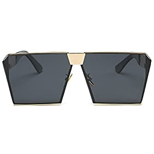 LKEYE - Unique Oversize Shield Vintage Square Sunglasses LK1705