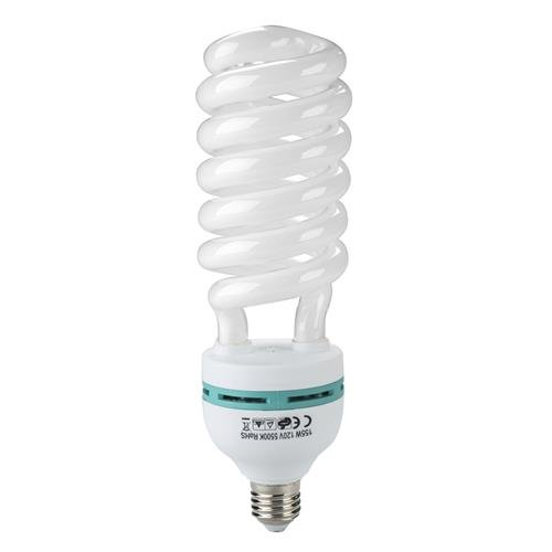 Flashpoint 155W 5500K Spiral CFL Fluorescent Light Bulb, Equivalent Output of 600 Watts