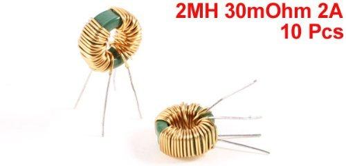 Miki/&Co 10 Pi/èces Inducteur De Mode Commun Tore Core Starter 2MH 30mOhm 2A Ressort