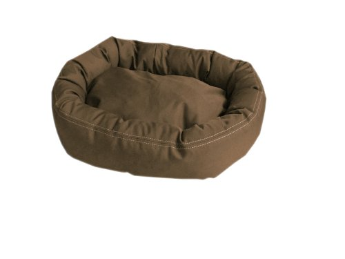 Carolina Bolster Pet Bed - CPC Brutus Tuff Comfy Cup Pet Bed, 27-Inch, Olive