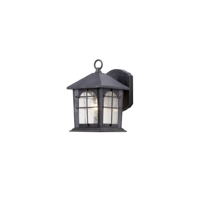 Hampton Bay Aged Iron 5.5 In. Outdoor Wall Lantern HB48023P 151