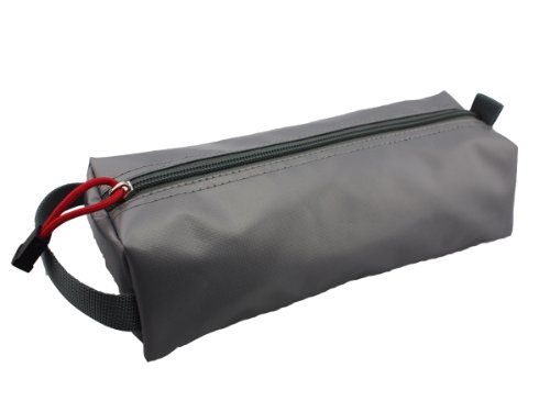 Rough Enough Grey rubberized small tool pencil case pouch