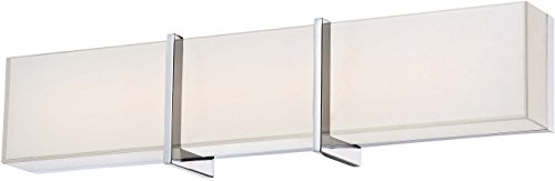 Minka Lavery Wall Light Fixtures 2922-77-L High Rise Wall Bath Vanity Lighting, 1-Light Watts, Chrome