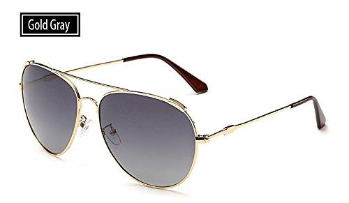 TL al de gris mujeres pesca oro Gafas de guía UV400 gafas deportivas grey de gold aire hombres libre gafas polarizadas sol Sunglasses sol rnPZAxRqr