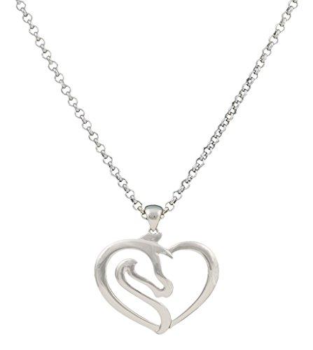 Montana Silver Plated Plates (Montana Silversmiths Jewelry Womens Necklace Heart Key Silver NC2504)