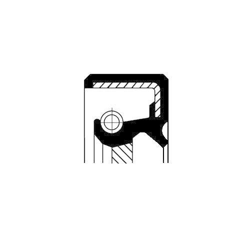 Kurbelwelle Corteco 19027858B Wellendichtring