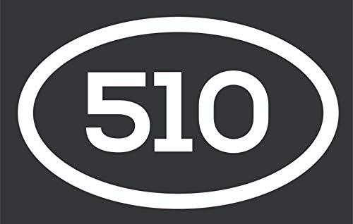 510 Area Code Sticker California Oakland Alameda Berkeley City Pride Vinyl Decal Sticker Car Waterproof Car Decal Bumper Sticker 5