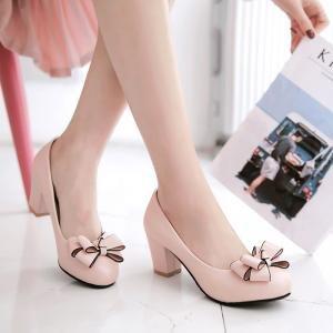 hexiajia - Zapatos Planos con Cordones mujer Rosa