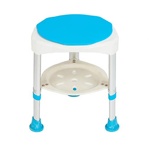 Shower Chair Heavey Duty 300 lbs Bath Chair Shower Bench Seat Shower Seat Stool Handicap Shower Chair Aluminium Alloy 7 Height Adjust Suction Cup Bathtub Lift Chair Baby Seniors Elderly Pregnant ()