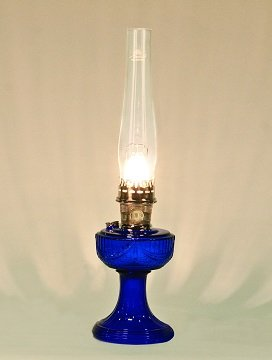 Aladdin Mantle Lamp Co. Lamp - C6177N Cobalt Lincoln Drape - Nickel-Plated