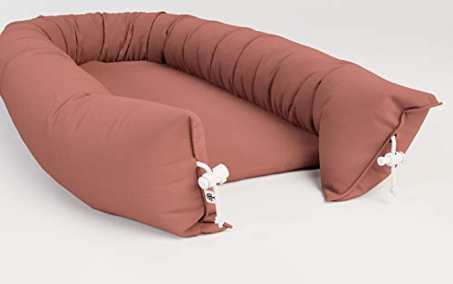 Askr & Embla Sleepod Original Baby-Sleeper and Lounger - Perfect for Napping, Tummy time and Travel. Organic & Hypoallergenic - Suitable from 0-7 Months (Terracotta) by Askr & Embla (Image #2)