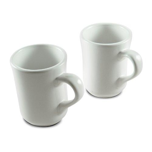 8 Oz. (Ounce) White Diner Style Coffee Mug, Coffee Mugs, Coffee Bar Cups, Restaurant Quality - Two (2) Sets