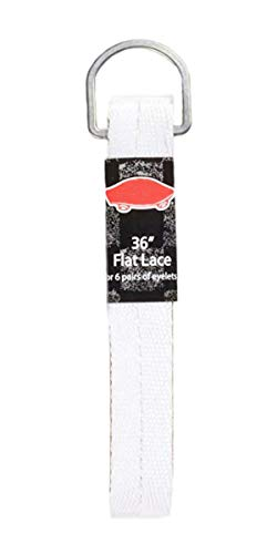 Vans Off The Wall Unisex Replacement Shoelaces Flat String Cords Shoe Laces,White,45